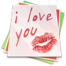 96x96px size png icon of Paper kiss