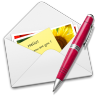 96x96px size png icon of Letter pen