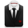 96x96px size png icon of Manager Suit Black Tie Rose