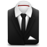 96x96px size png icon of Manager Suit Black Tie