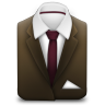96x96px size png icon of Manager Suit Brown