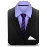 96x96px size png icon of Manager Suit Purple Stripes