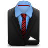 96x96px size png icon of Manager Suit Red Stripes