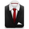 96x96px size png icon of Manager Suit Red Tie