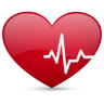 96x96px size png icon of heart beat