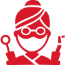 96x96px size png icon of Dentist red
