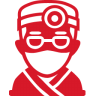 96x96px size png icon of Doctor red