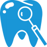 96x96px size png icon of Tooth blue