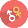 96x96px size png icon of male female
