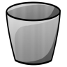 96x96px size png icon of Bucket Empty