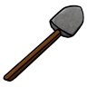 96x96px size png icon of Stone Shovel