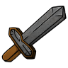 96x96px size png icon of Stone Sword