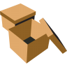 96x96px size png icon of boxes brown