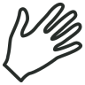 96x96px size png icon of Hand