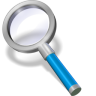 96x96px size png icon of search blue