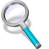 96x96px size png icon of search cyan