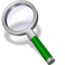 96x96px size png icon of search green dark