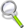 96x96px size png icon of search green neon