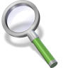 96x96px size png icon of search green