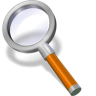 96x96px size png icon of search orange