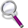 96x96px size png icon of search purple dark