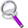 96x96px size png icon of search purple