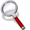 96x96px size png icon of search red dark