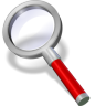 96x96px size png icon of search red