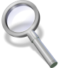 96x96px size png icon of search silver