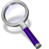 96x96px size png icon of search violett