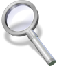 96x96px size png icon of search white