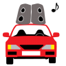 96x96px size png icon of Car Sound