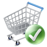 96x96px size png icon of shop cart apply