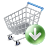 96x96px size png icon of shop cart down