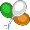 96x96px size png icon of balloons color