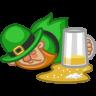 96x96px size png icon of leprechaun drunk