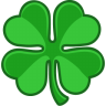 96x96px size png icon of shamrock lucky