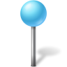 96x96px size png icon of Map Marker Ball Azure