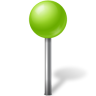 96x96px size png icon of Map Marker Ball Chartreuse