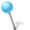 96x96px size png icon of Map Marker Ball Left Azure