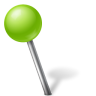 96x96px size png icon of Map Marker Ball Left Chartreuse