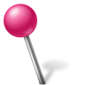 96x96px size png icon of Map Marker Ball Left Pink