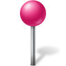 96x96px size png icon of Map Marker Ball Pink