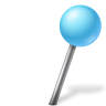 96x96px size png icon of Map Marker Ball Right Azure