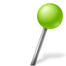 96x96px size png icon of Map Marker Ball Right Chartreuse