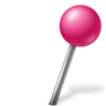96x96px size png icon of Map Marker Ball Right Pink