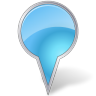 96x96px size png icon of Map Marker Bubble Azure