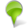 96x96px size png icon of Map Marker Bubble Chartreuse