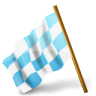96x96px size png icon of Map Marker Chequered Flag Left Azure