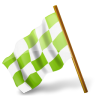 96x96px size png icon of Map Marker Chequered Flag Left Chartreuse